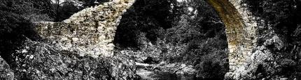Foto der alten Packpferdbrücke in Shottland von Kurt Flückiger Photography