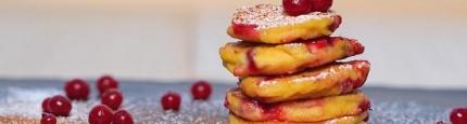 Bild vom veganen glutenfreien pancakes