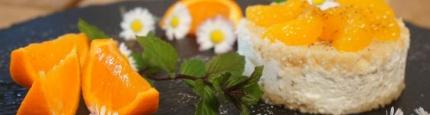 Foto vom schön angerichteten glutenfreien Mandarinen-Törtchen